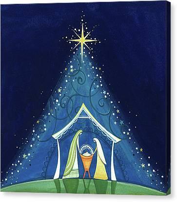 Nativity Canvas Print - Above A Star by P.s. Art Studios