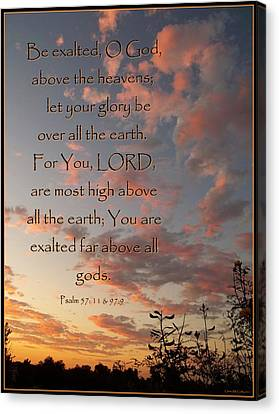 Christian Poetry Canvas Print - Above All The Earth by Glenn McCarthy Art and Photography