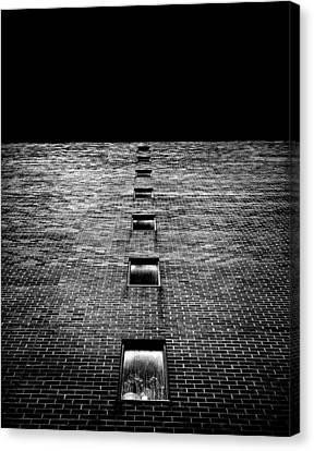 Canvas Print featuring the photograph Above And Below At No 369 Pape Ave Toronto Canada by Brian Carson