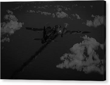 Above And Beyond - Jimmy Ward Vc Black And White Version Canvas Print