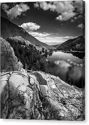 Above Cooney Lake Canvas Print