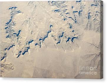 Above Kansas Windmills Canvas Print by Darleen Stry