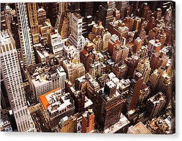 Nyc Rooftop Canvas Print - Above New York City by Vivienne Gucwa