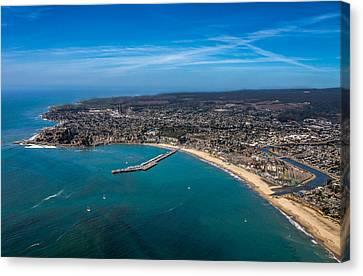 Above Santa Cruz California Looking West Canvas Print by Randy Straka