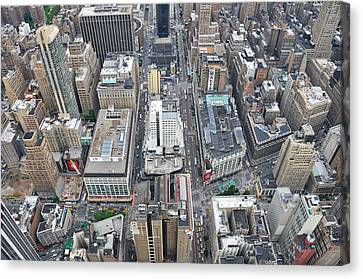 Above Skyscrapers Canvas Print by Paul Van Baardwijk