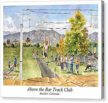 Above The Bar Track Club Poster Canvas Print