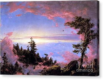 Above The Clouds At Sunrise By Frederick Edwin Church Canvas Print