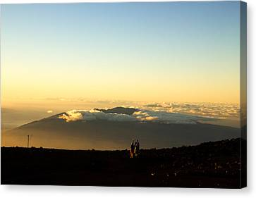 Canvas Print featuring the photograph Above The Clouds by Cathy Donohoue