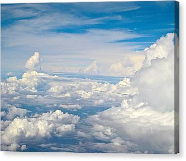 Above The Clouds Over Texas Image B Canvas Print