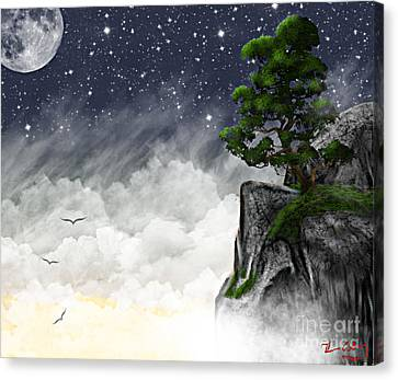 Above The Clouds Canvas Print by Thomas OGrady