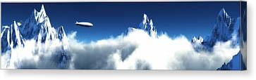 Canvas Print featuring the digital art Above The Clouds... by Tim Fillingim