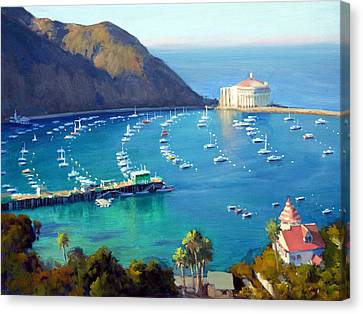 Above The Harbor Canvas Print