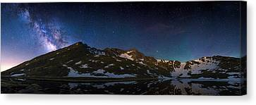 Above The Rocky Mountain High Canvas Print by Adam Pender