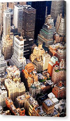 Above The Skyscrapers - New York City Canvas Print by Vivienne Gucwa