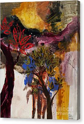 Above The Tree Tops Canvas Print by Robin Maria Pedrero