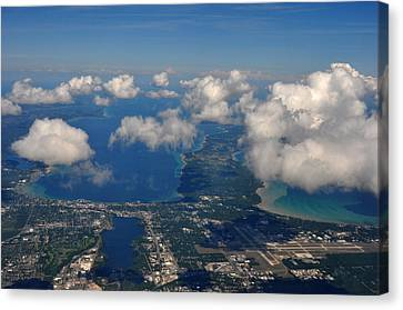Above Traverse City Canvas Print by Diane Lent