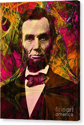 Abraham Lincoln 2014020502 Canvas Print by Wingsdomain Art and Photography