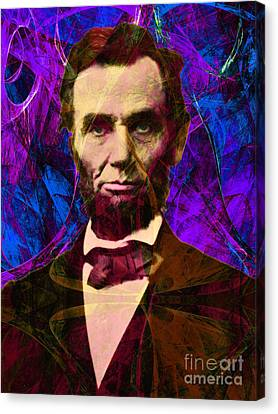 Abraham Lincoln 2014020502m118 Canvas Print by Wingsdomain Art and Photography