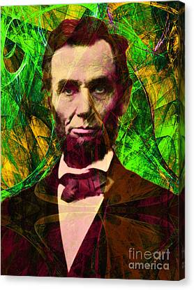 Abraham Lincoln 2014020502p68 Canvas Print by Wingsdomain Art and Photography