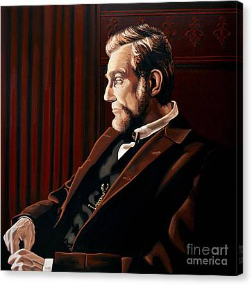 Abraham Lincoln By Daniel Day-lewis Canvas Print by Paul Meijering