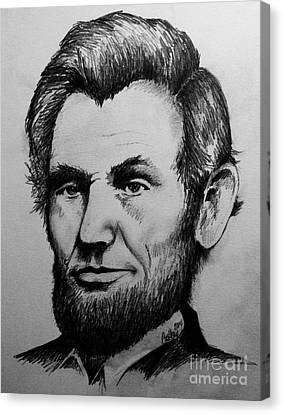 Abraham Lincoln Canvas Print by Catherine Howley