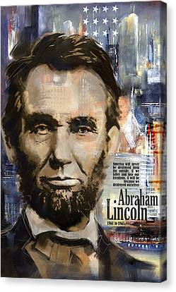 Abraham Lincoln Canvas Print by Corporate Art Task Force