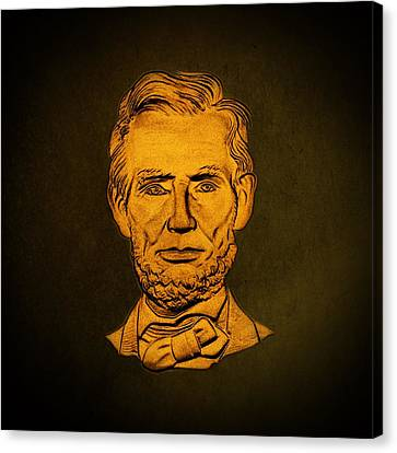 Abraham Lincoln  Canvas Print by David Dehner