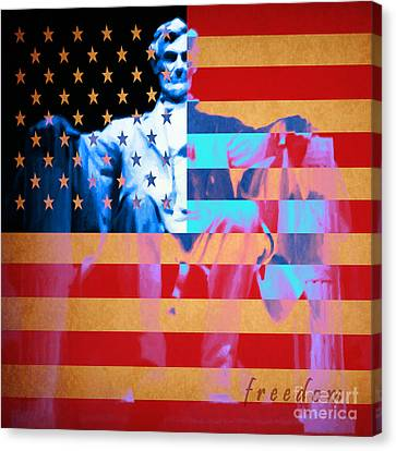 Abraham Lincoln - Freedom Canvas Print by Wingsdomain Art and Photography