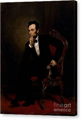 Abraham Lincoln Canvas Print by GPA Healy