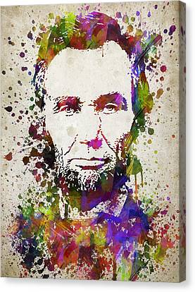 Lincoln Drawings Canvas Print - Abraham Lincoln In Color by Aged Pixel