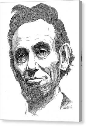 Abraham Lincoln Canvas Print by Jack Puglisi