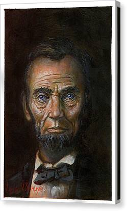 Abraham Lincoln Canvas Print by Jeff Brimley