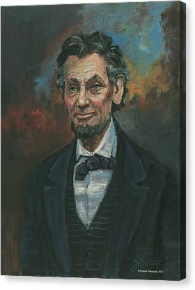 Abraham Lincoln Canvas Print by Kaziah Hancock