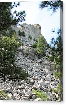 Abraham Lincoln - Mt. Rushmore Canvas Print by Karen Gross