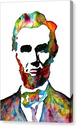 Abraham Lincoln Original Watercolor  Canvas Print