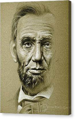 Canvas Print - Abraham Lincoln Pencil Portrait by Victor Powell