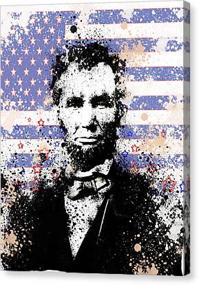 Abraham Lincoln Pop Art Splats Canvas Print