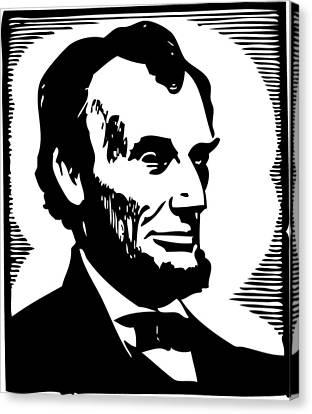 Patriots Canvas Print - Abraham Lincoln Portrait by Florian Rodarte