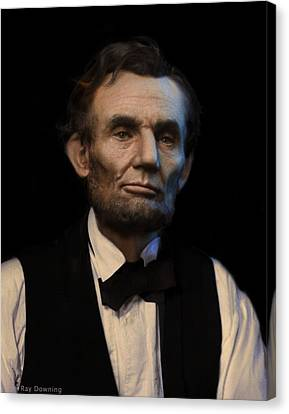 Lincoln Drawings Canvas Print - Abraham Lincoln Portrait by Ray Downing