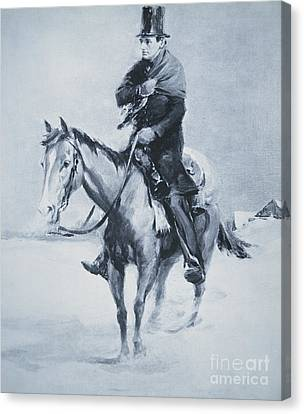 Abraham Lincoln Riding His Judicial Circuit Canvas Print by Louis Bonhajo