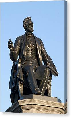 Kelly Drive Canvas Print - Abraham Lincoln Statue Philadelphia by Bill Cannon