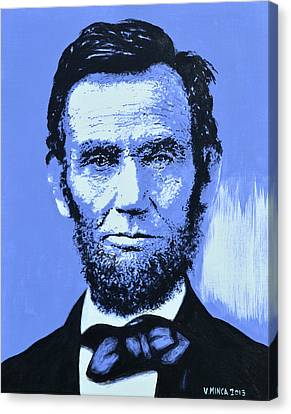 Abraham Lincoln Canvas Print by Victor Minca