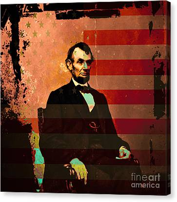 Abraham Lincoln Canvas Print by Wingsdomain Art and Photography