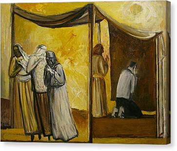 Abraham Praying Canvas Print by Richard Mcbee