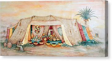 Abraham's Tent Canvas Print by Michoel Muchnik