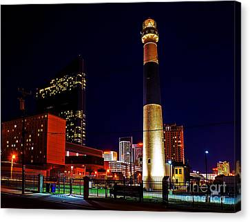 Absecon Lighthouse At Night Canvas Print