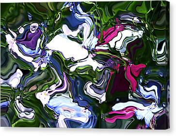 Canvas Print featuring the digital art Absent by Richard Thomas