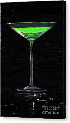 Absinth In The Glass Canvas Print by Aleksey Tugolukov