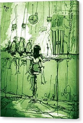 Absinthe Bar Canvas Print by J-Star Wind