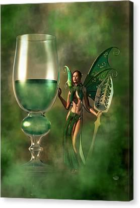 Green Fairy Canvas Print - Absinthe by Daniel Eskridge